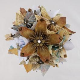 Bouquet mariée origami Game Of Thrones et accessoires mariage coordonnés
