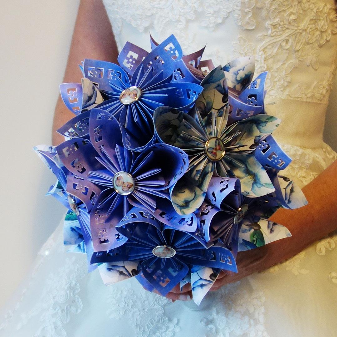 bouquet mari e origami champ tre et accessoire cheveux. Black Bedroom Furniture Sets. Home Design Ideas