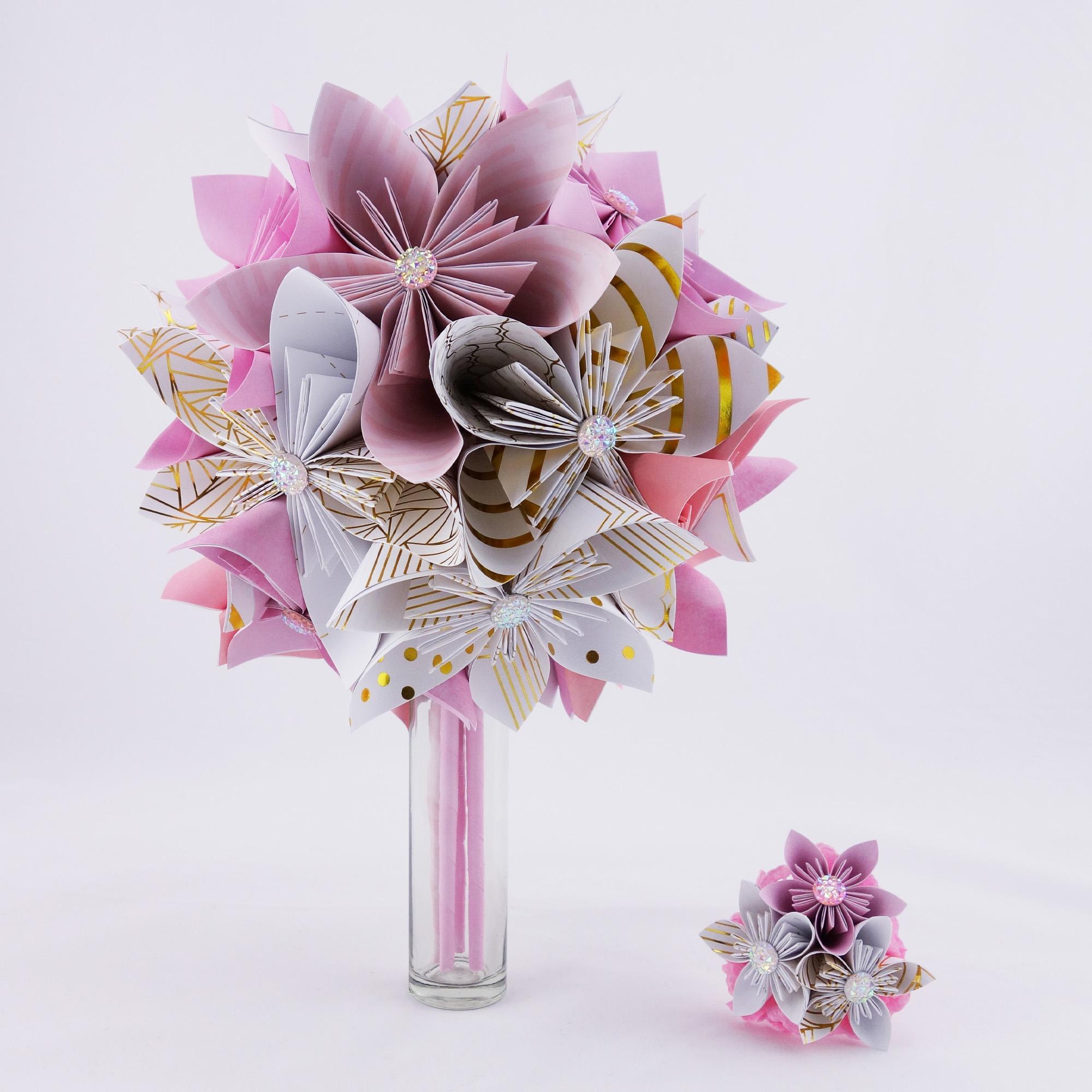 accueil - soligami : bouquets de mariée en origami - accessoires et