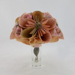 Origami bouquet vintage
