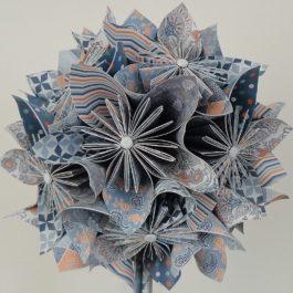 Bouquet papier origami