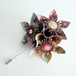 Boutonnière mariage homme shabby chic