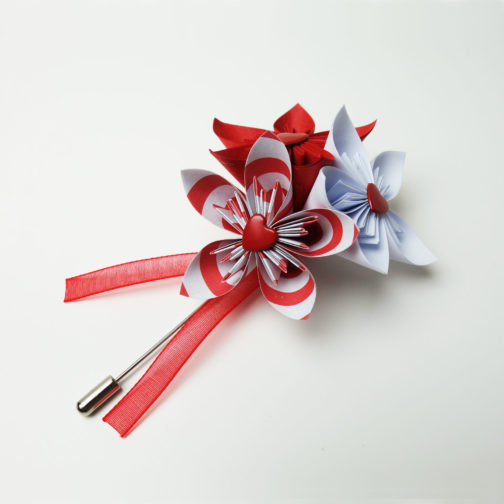 boutonniere homme rouge mariage
