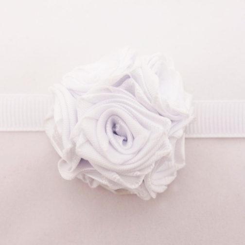 Bracelet fleurs mariage blanc
