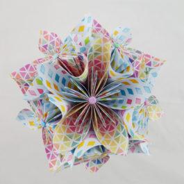 Bouquet origami – fleurs artificielles en papier