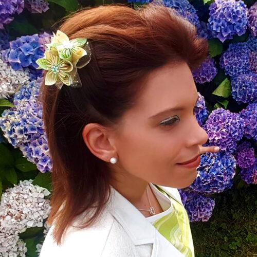 Mariage tropical : Mon accessoire cheveux en origami sera de la partie !