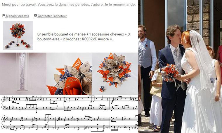 mariage origami musique