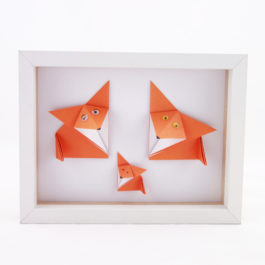 Cadre origami 3d renard