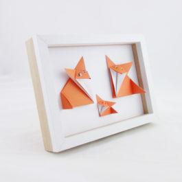 Cadre deco renard origami