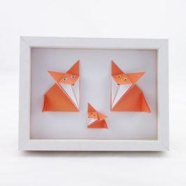 Cadre renard origami
