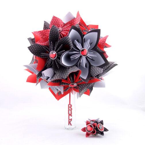 bouquet mariage origami rockabilly