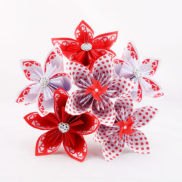Bouquet à lancer mariage en origami