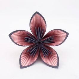 Acompte bouquet de mariée personnalisé en origami thème rockabilly en rouge, blanc, turquoise et noir + accessoire cheveux mariée offert : RÉSERVÉ Stéphanie