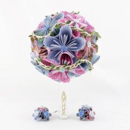 Bouquet mariée origamichampêtre / bohème + accessoires