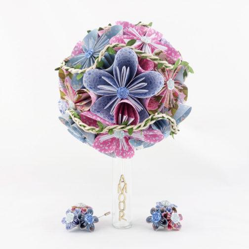 bouquet mariée origami champêtre