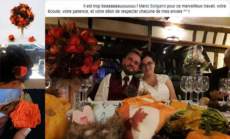 mariage champêtre soligami