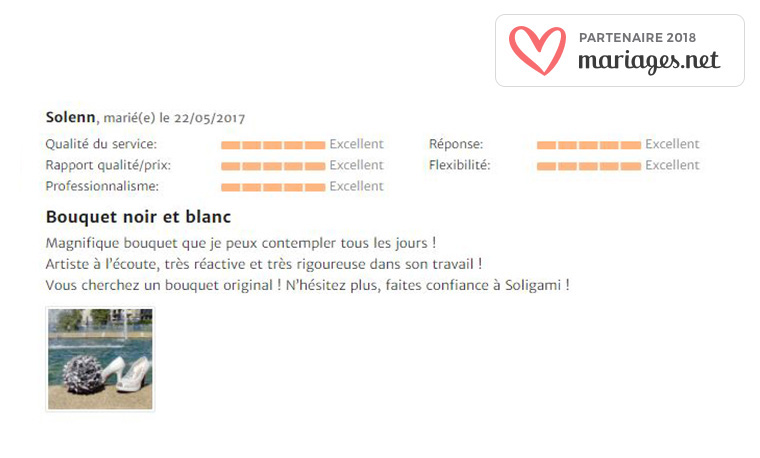 Evaluation note mariages.net SOLIGAMI®