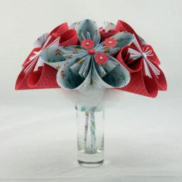 Bouquet original en papier origami