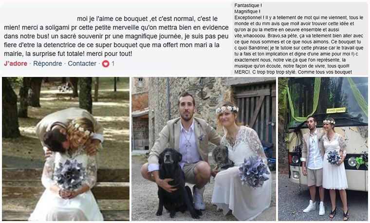 bouquet de mariage noir et blanc
