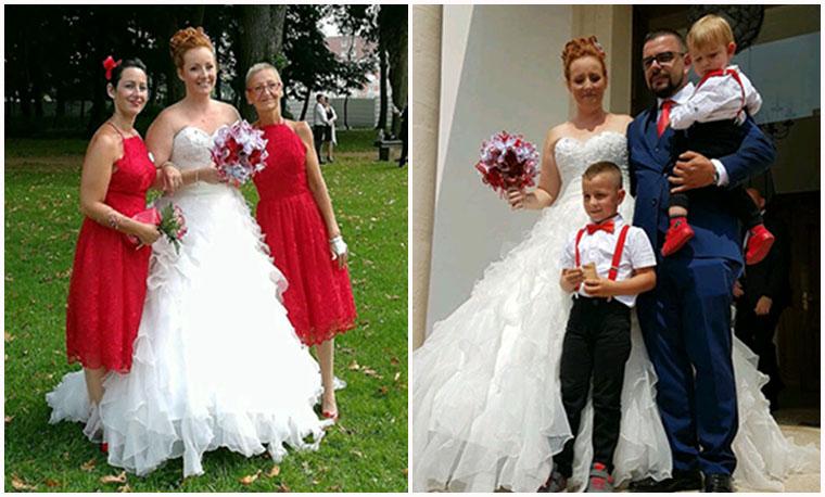 bouquet mariage rouge blanc