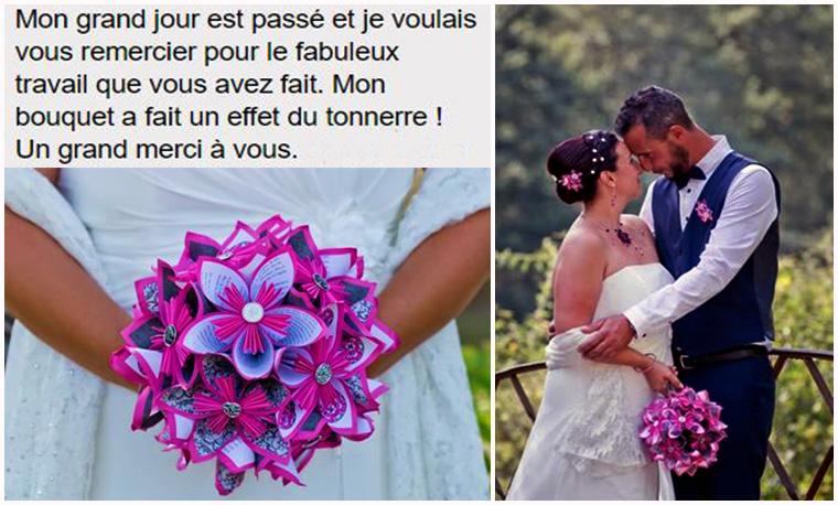 bouquet mariée fushia et blanc