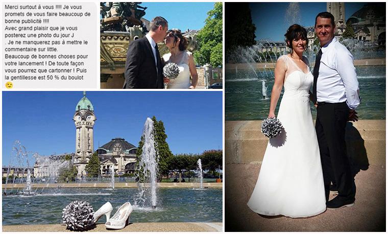 bouquet de mariée noir et blanc