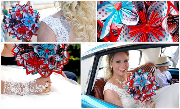 bouquet mariée rockabilly