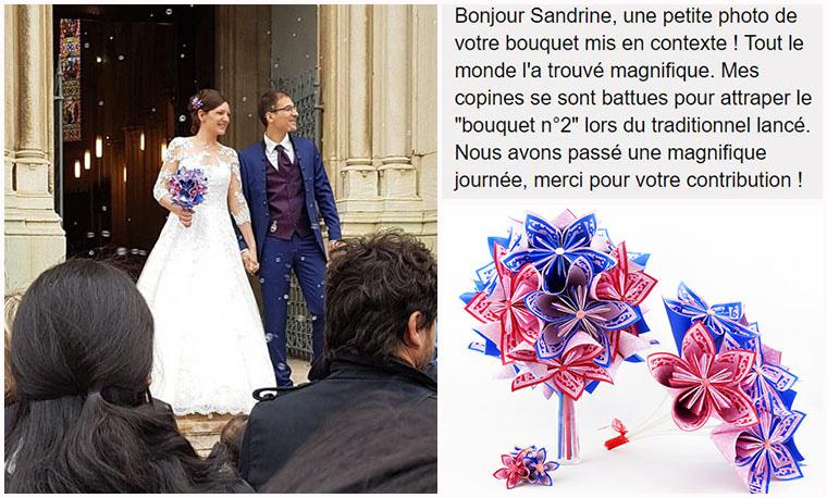 bouquet mariée rose bleu champetre