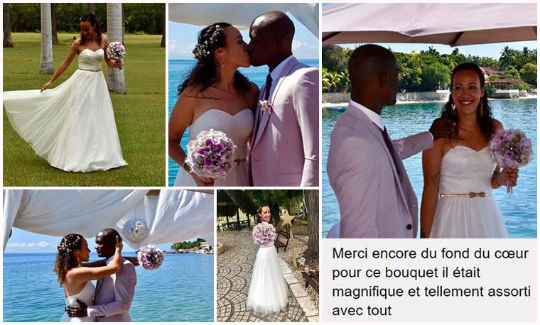bouquet mariée rose poudré