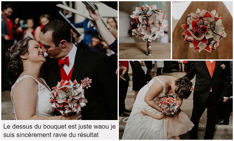bouquet mariée vintage rouge