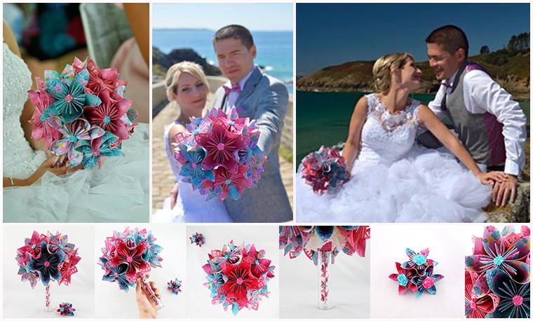 bouquet mariée tropical exotique