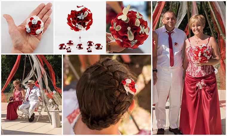 bouquet rouge blanc mariage