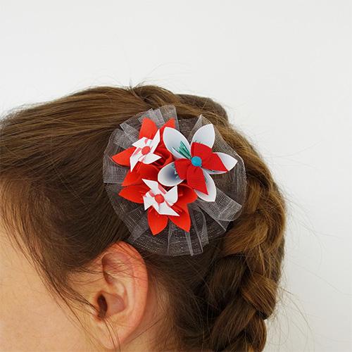 accessoire cheveux mariage rouge