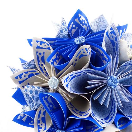 bouquet bleu blanc