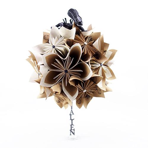 bouquet geek mariage papier origami