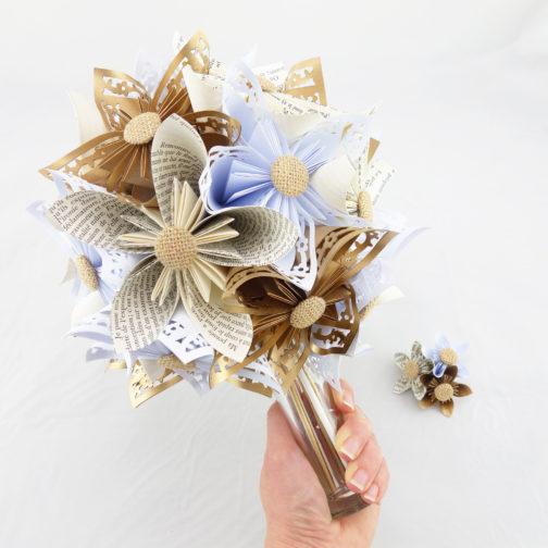bouquet mariage papier origami