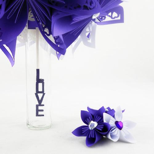 bouquet mariage violet et blanc
