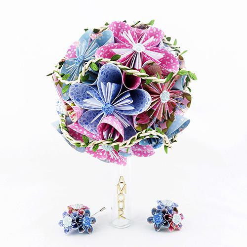 bouquet mariée champetre papier origami