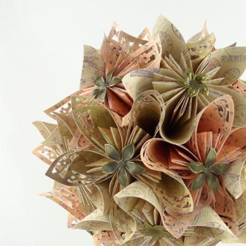bouquet mariée origami