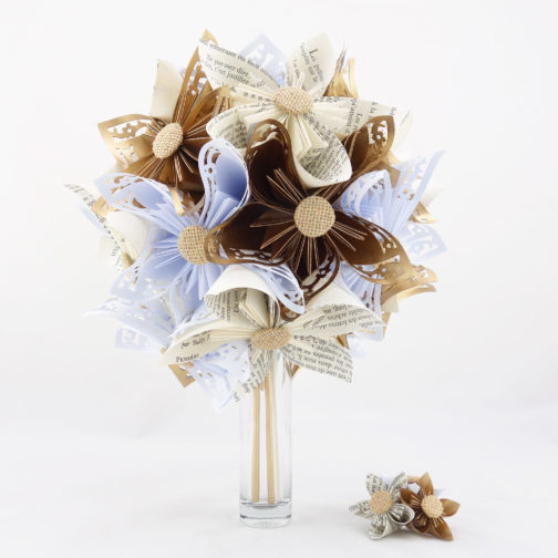 bouquet mariee origami