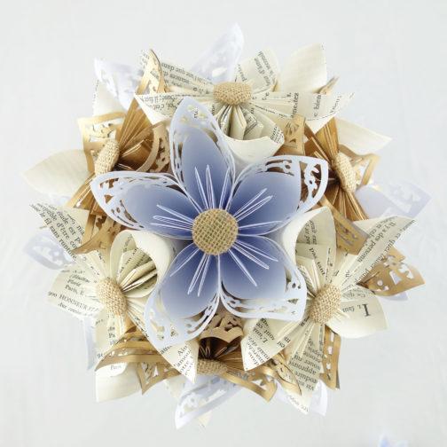 bouquet mariee papier