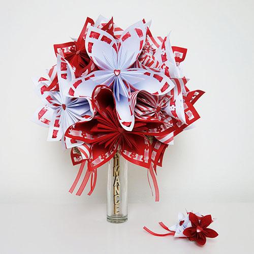 bouquet mariee rockabilly