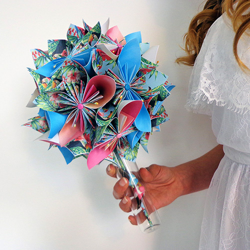 bouquet mariee tropical