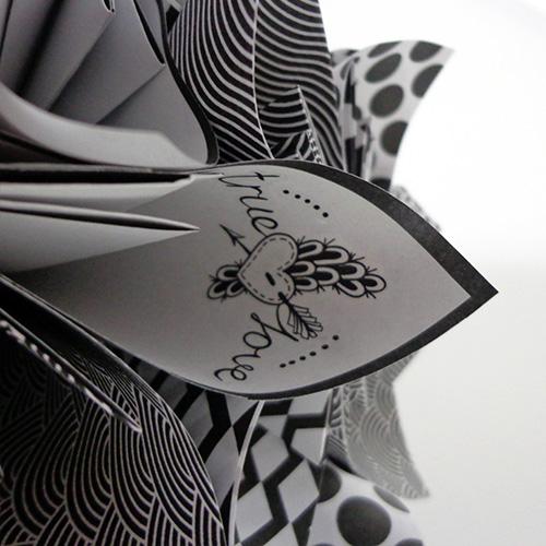 bouquet noir et blanc mariee