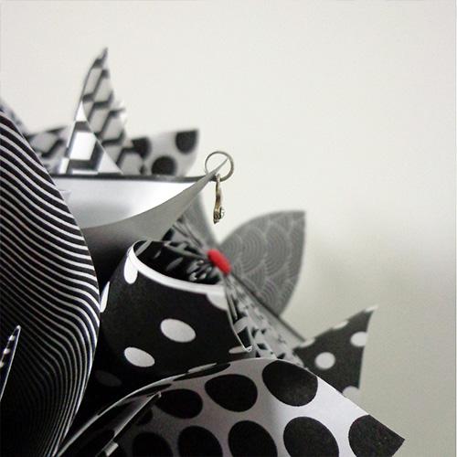 bouquet noir et blanc