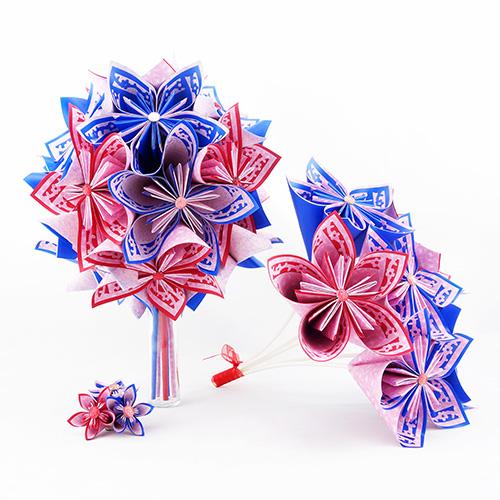 bouquet mariee champetre papier origami