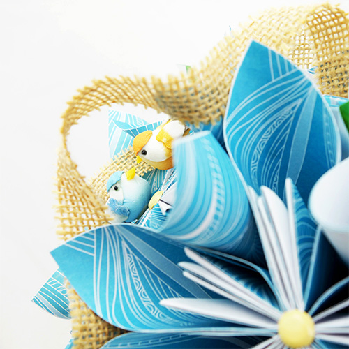 bouquet tropical mariée