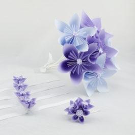 Bouquet à lancer, accessoire cheveux mariée et bracelets