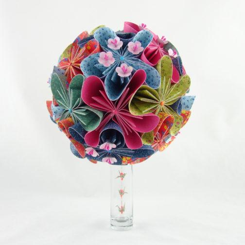 bouquet de mariée en origami soligami