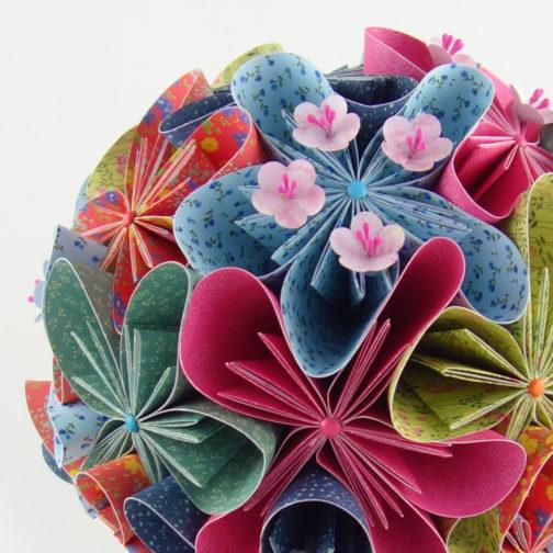 bouquet de mariage en origami soligami